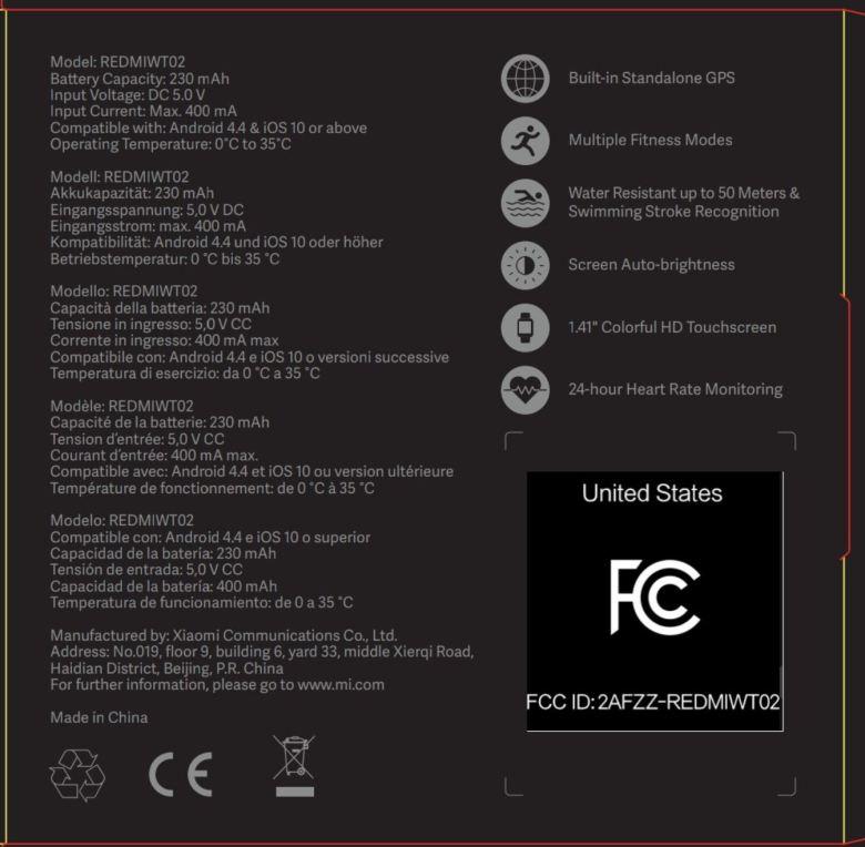 Mi Watch Lite Fcc Leak 2