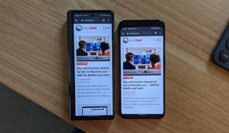 Samsung Galaxy Z Fold 2 Google Pixel 4 (1)