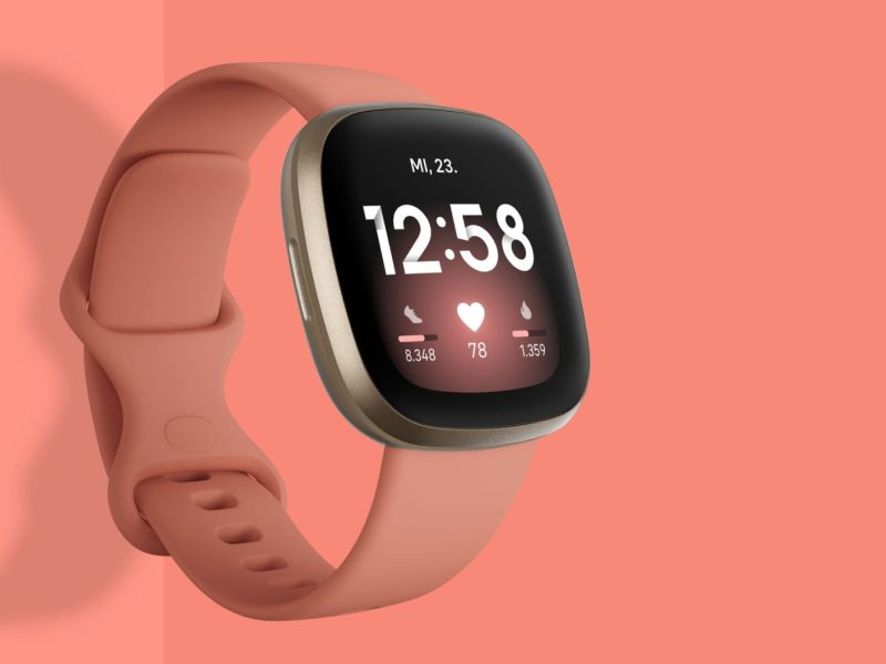 Fitbit Versa 3 Features Cover Orange