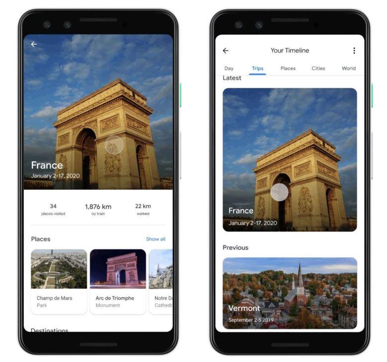Google Maps Reisen