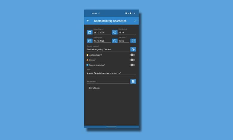 Kontakt Tagebuch Android App
