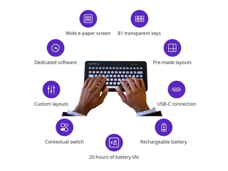 Nemeio Tastatur Kickstarter Header