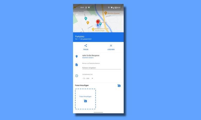 Parkplatz Speichern Google Maps