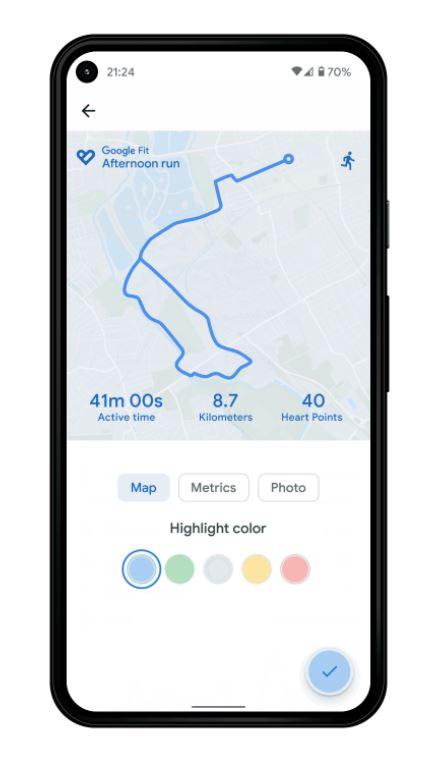 Spaziergänge Teilen Google Fit