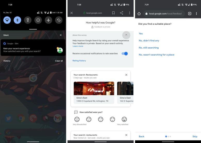 Google App Umfrage