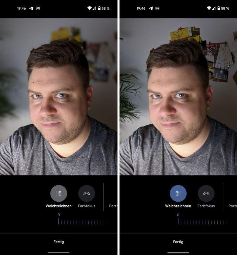 Porträt Editor Google Fotos