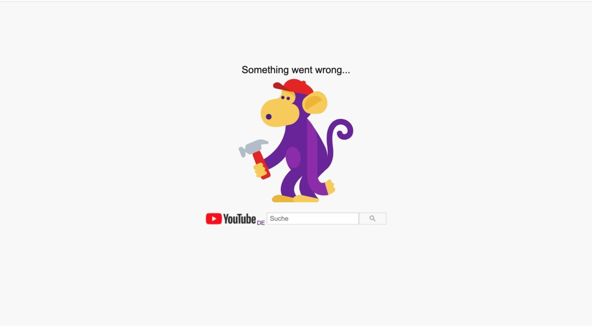 Youtube Down 500 Error