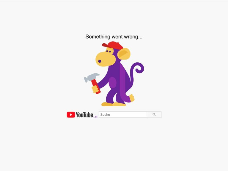 Youtube Down 500 Error