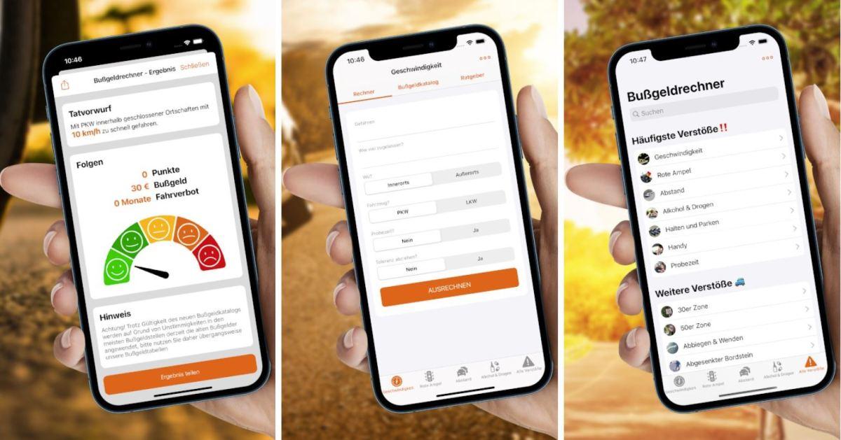 Bußgeldrechner App 2021