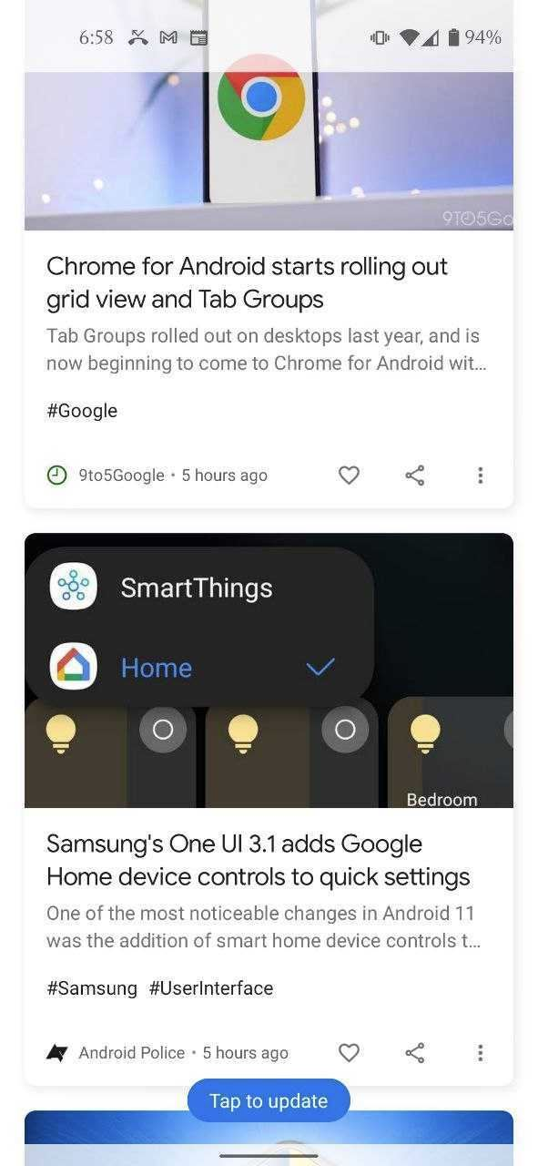 Google Discover Hashtags