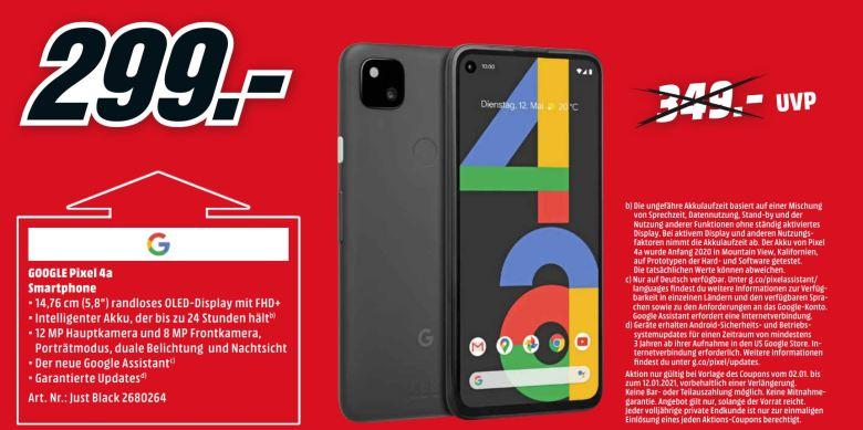 Google Pixel 4a Mediamarkt