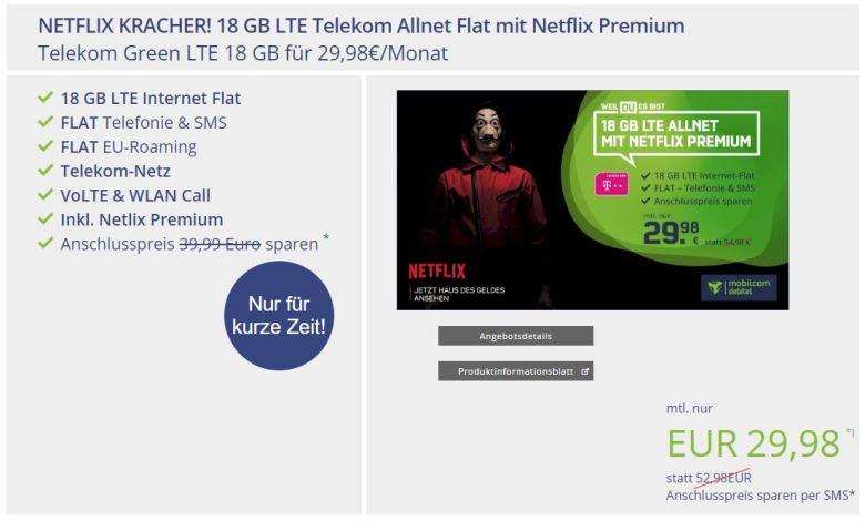 Netflix Angebot 18 Gb Mobilcom