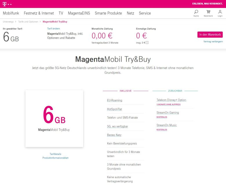 Try And Buy Telekom 2021