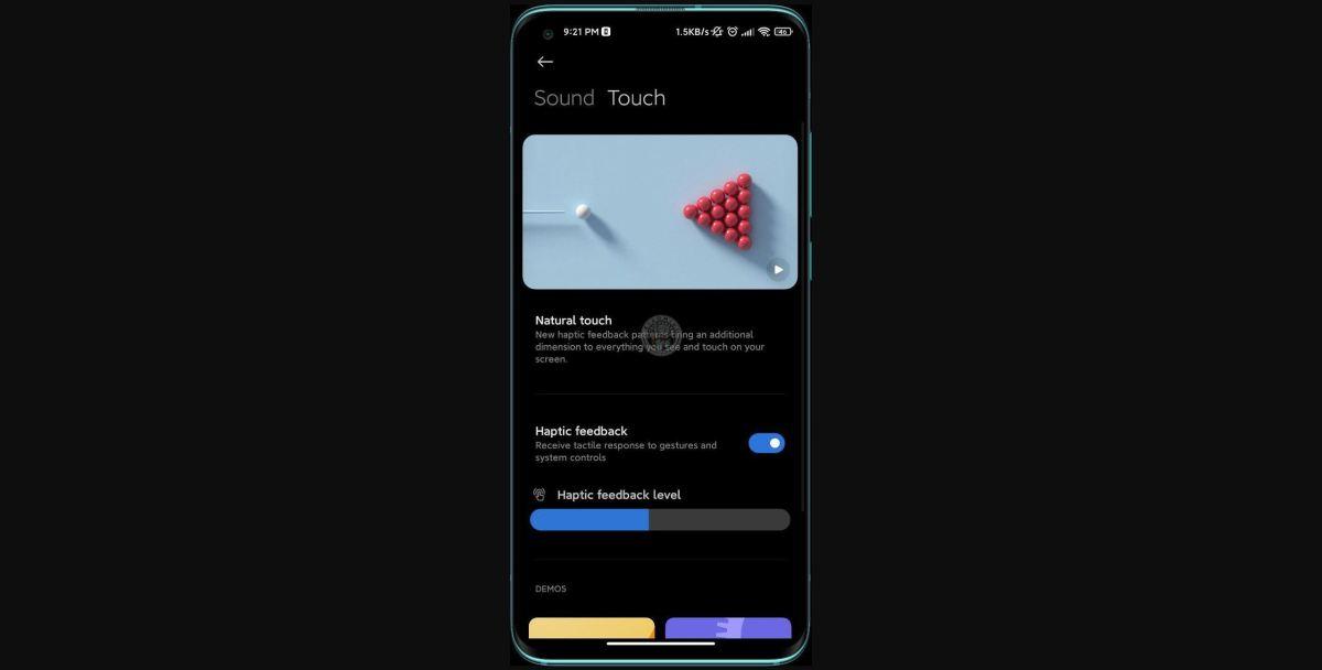 Xiaomi Natural Touch Leak