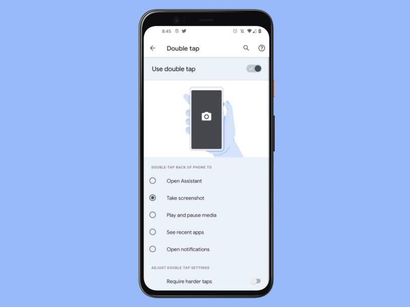 Doppeltippen Geste Android 12 (1)