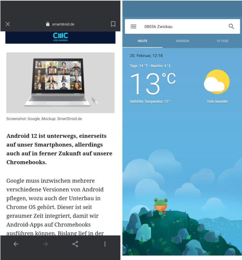 Google App Browser Und Wetterfrosch