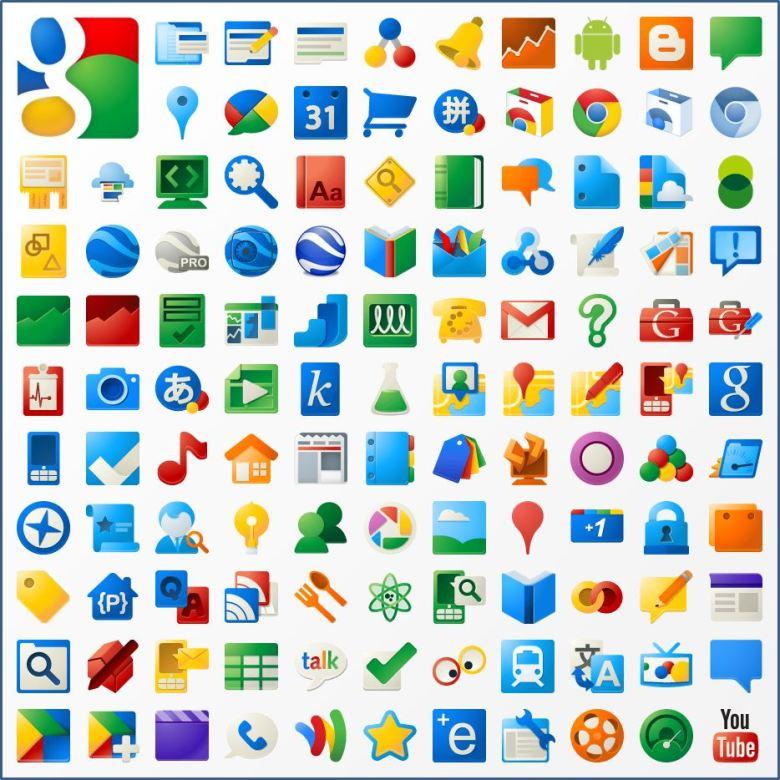 Google Icons Von Vor 8 Jahren