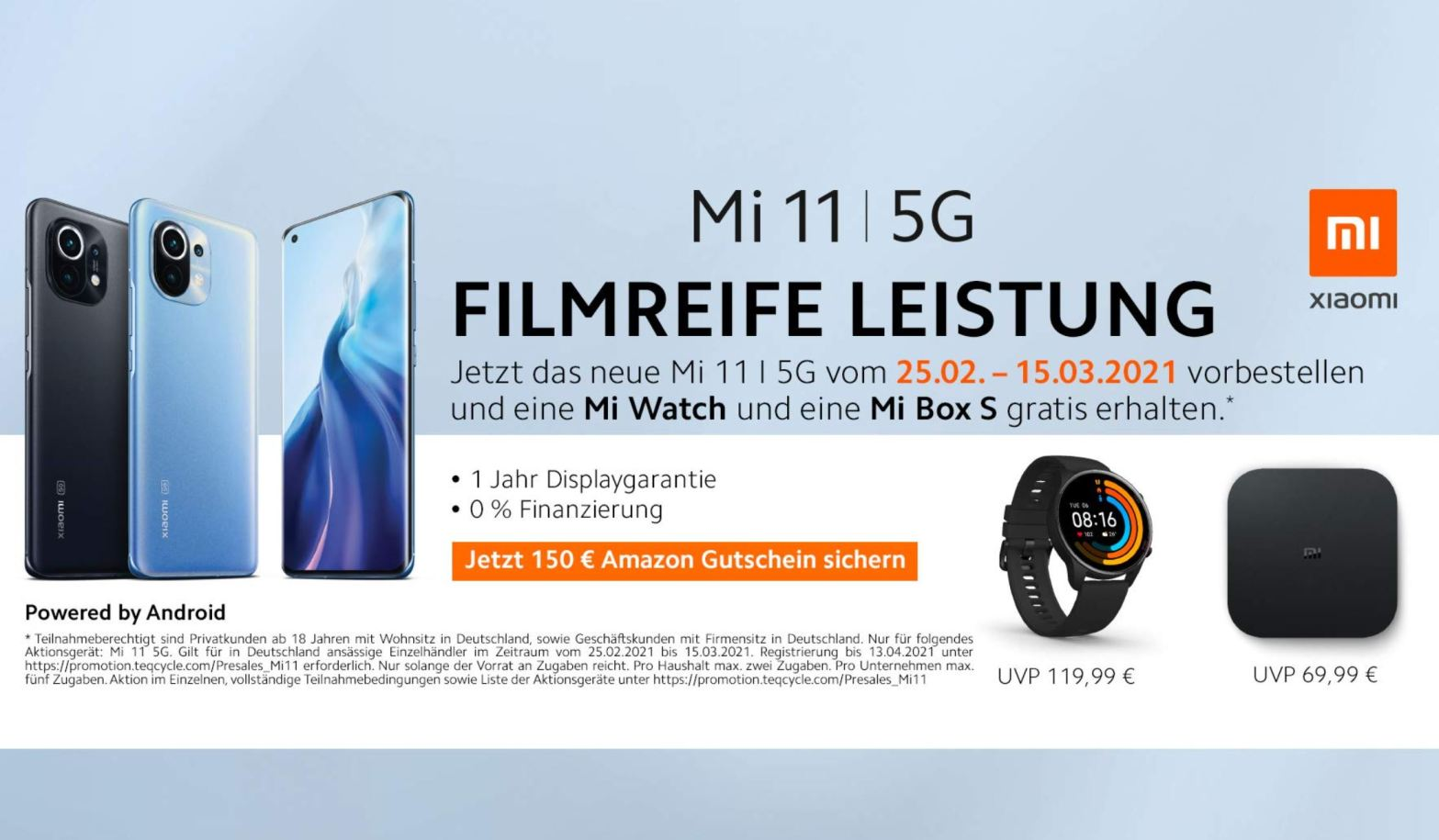 Mi 11 Vorbesteller Deal Amazon