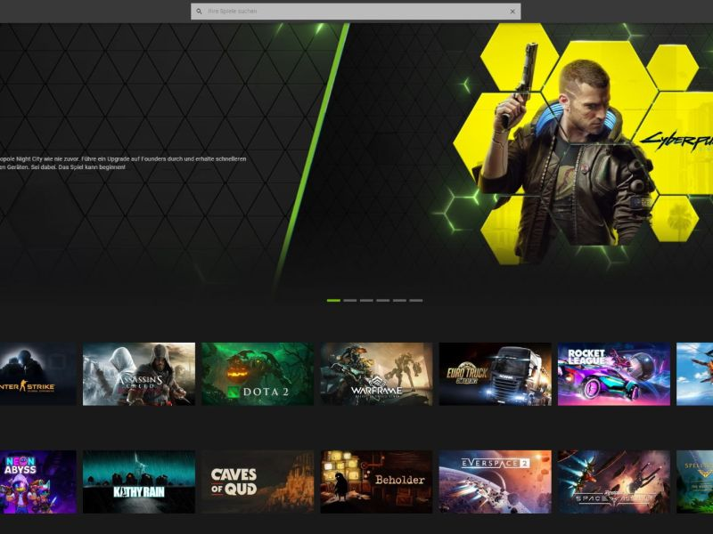 Nvidia Geforce Now Web Chrome Screenshot