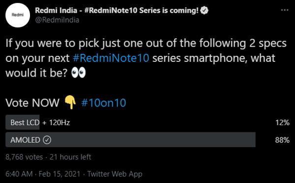 Redmi India Redmi Note 10 Lcd Oled Poll