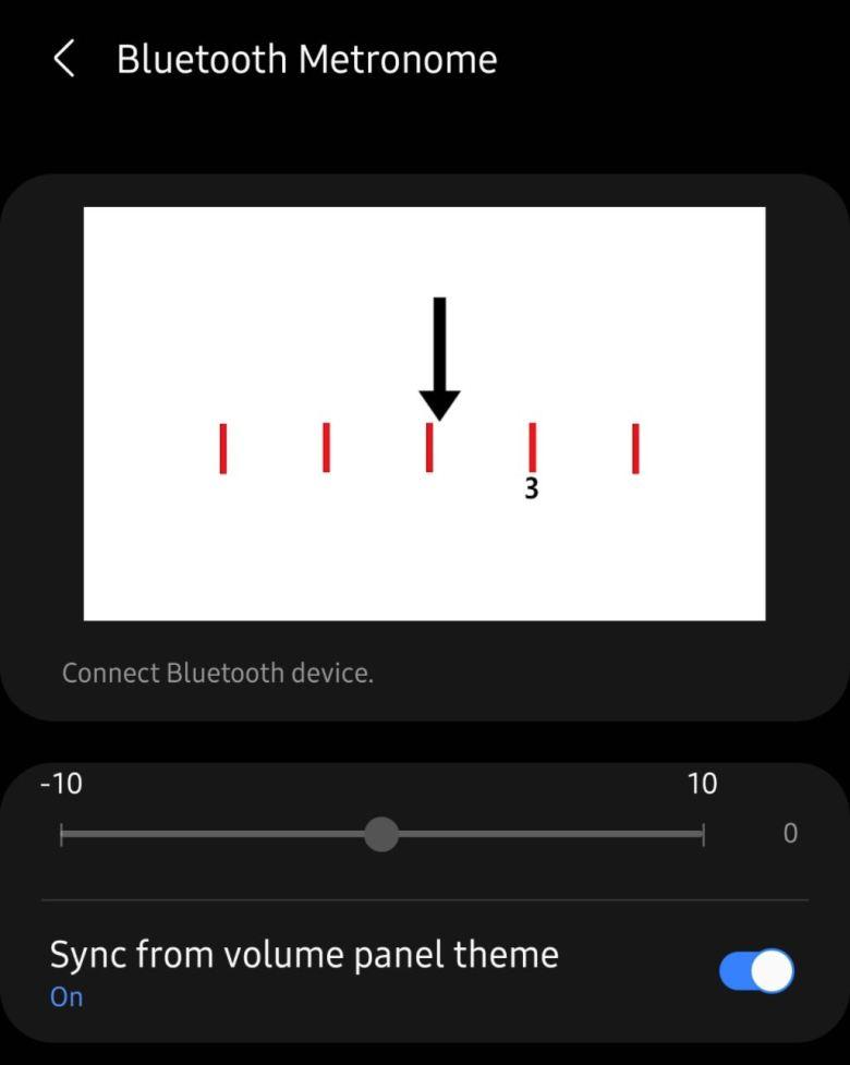 Samsung Good Lock Sound Assistant Bluetooth Metronome