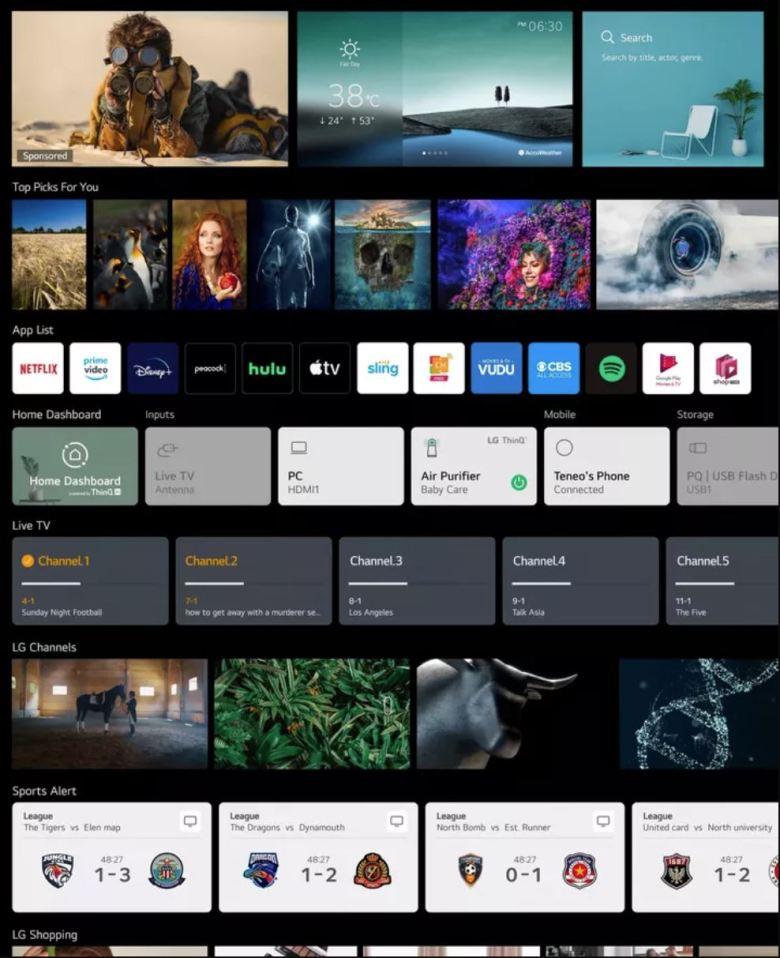 Webos 6 Homescreen