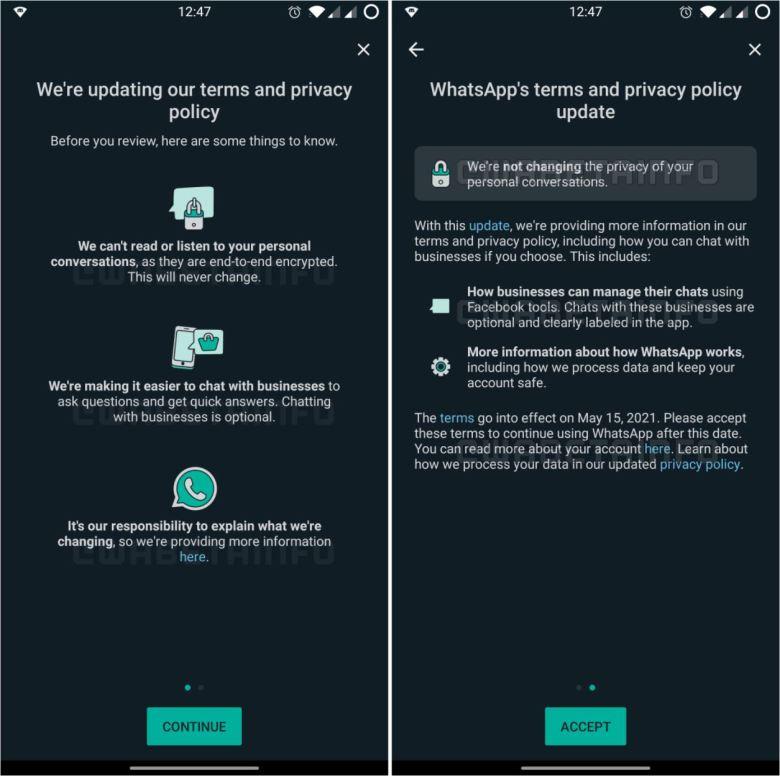 Whatsapp Nutzungsbedingungen Business 2021
