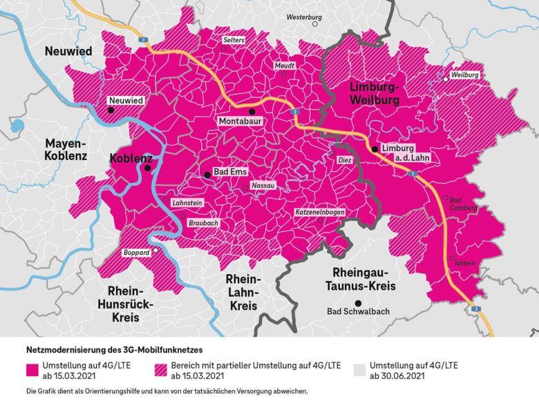 3g Abschaltung Telekom Übersicht Koblenz