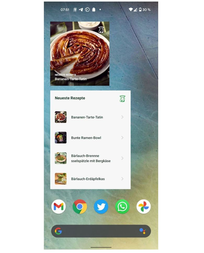 Cookido Widgets