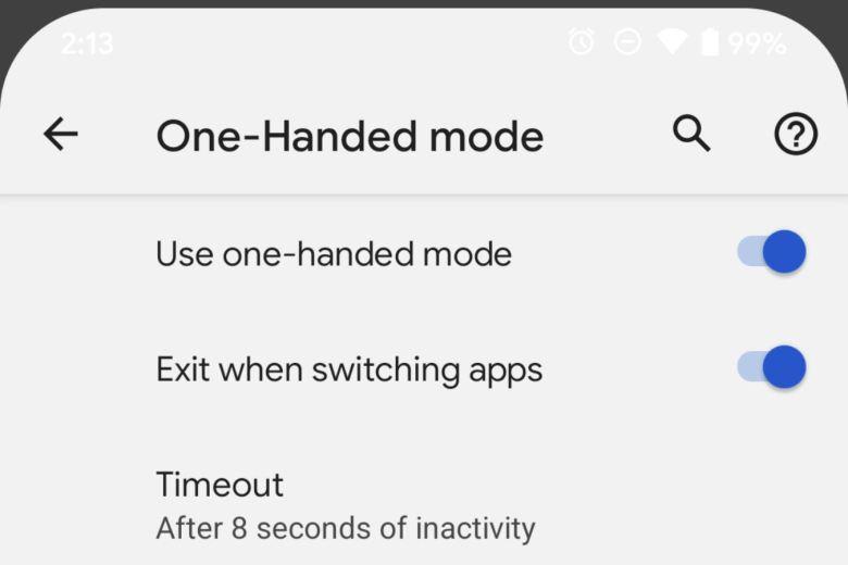 Einhandmodus Screenshot Android 12 Dp2