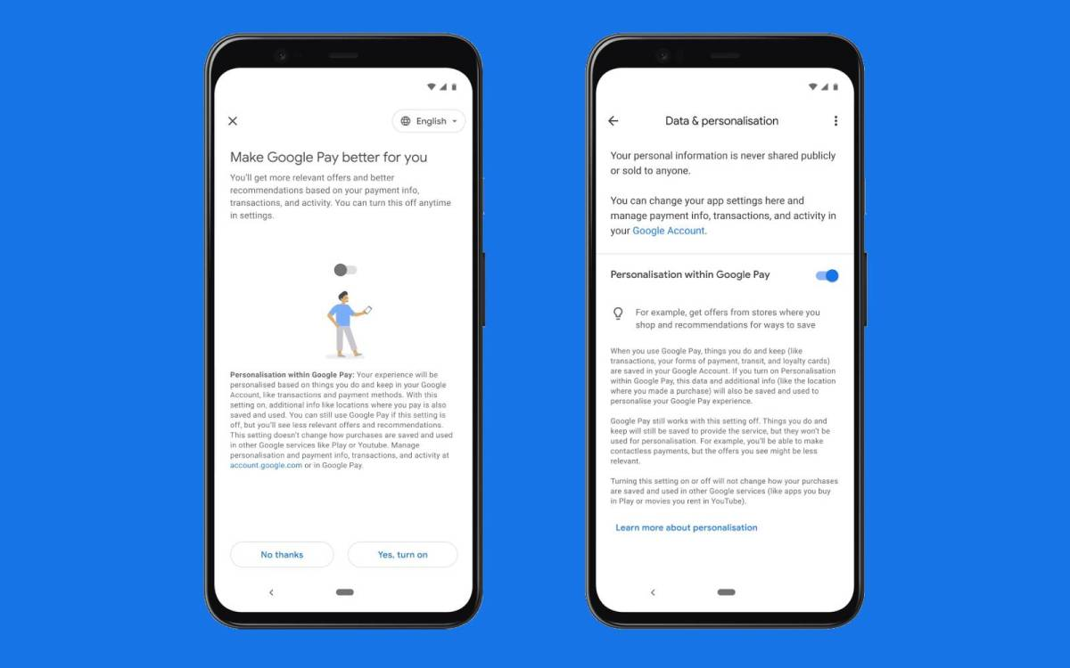 Googel Pay Personalisierung