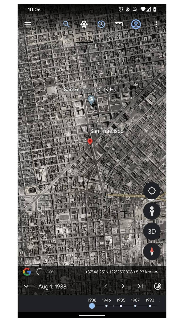 Google Earth Android Timelapse Screenshot