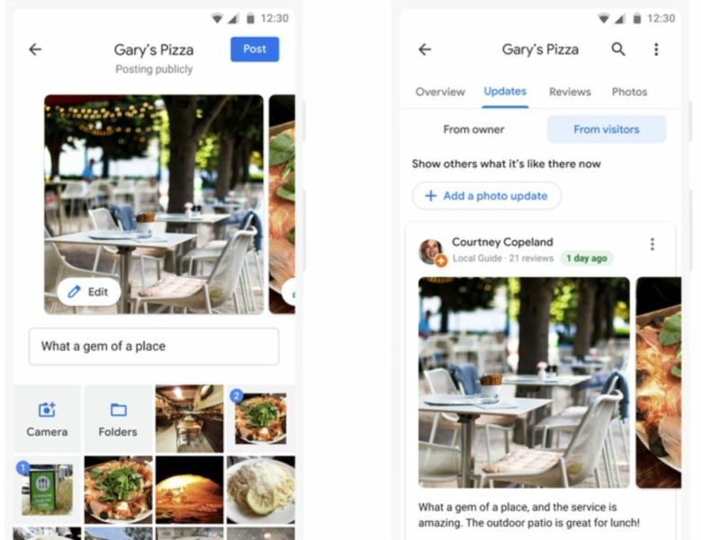 Google Maps Foto Updates