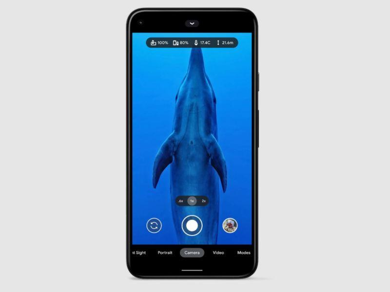 Google Pixel 5 Unterwasser