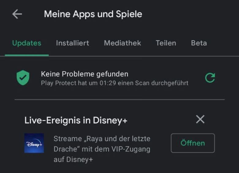 Live Ereignis Meine Apps Und Spiele