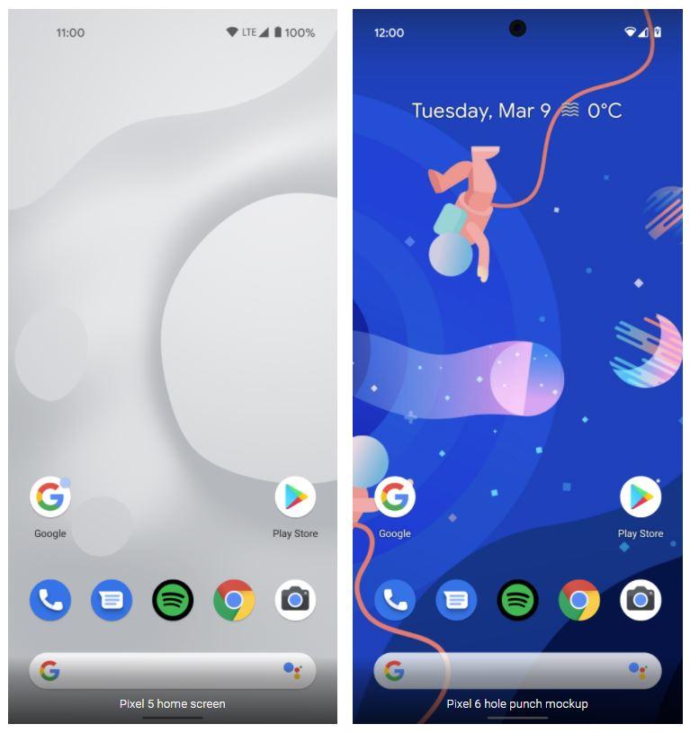 Pixel 5 Und Pixel 6 Mockup Vergleich