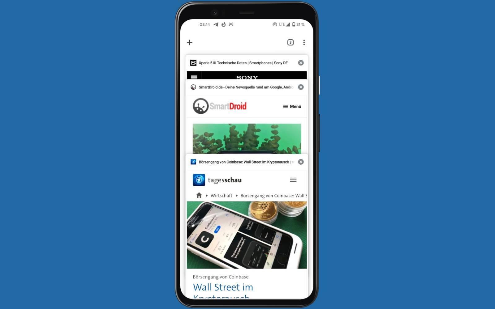 Android: Wie du die Tabgruppen in Google Chrome wieder loswirst