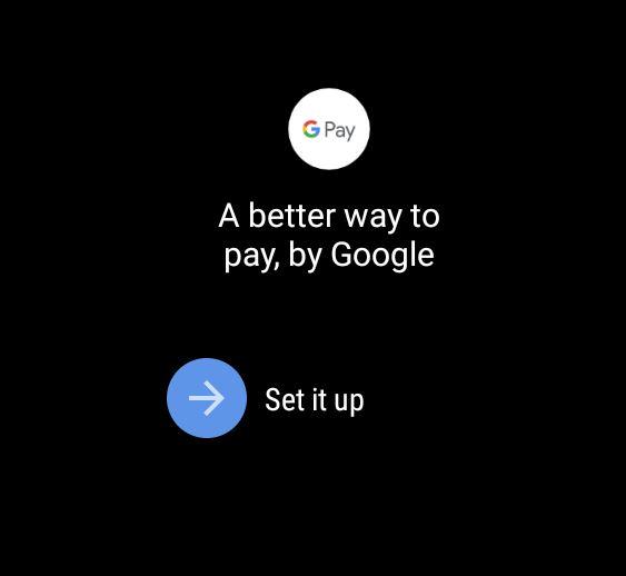 Google Pay Setup Wear Os
