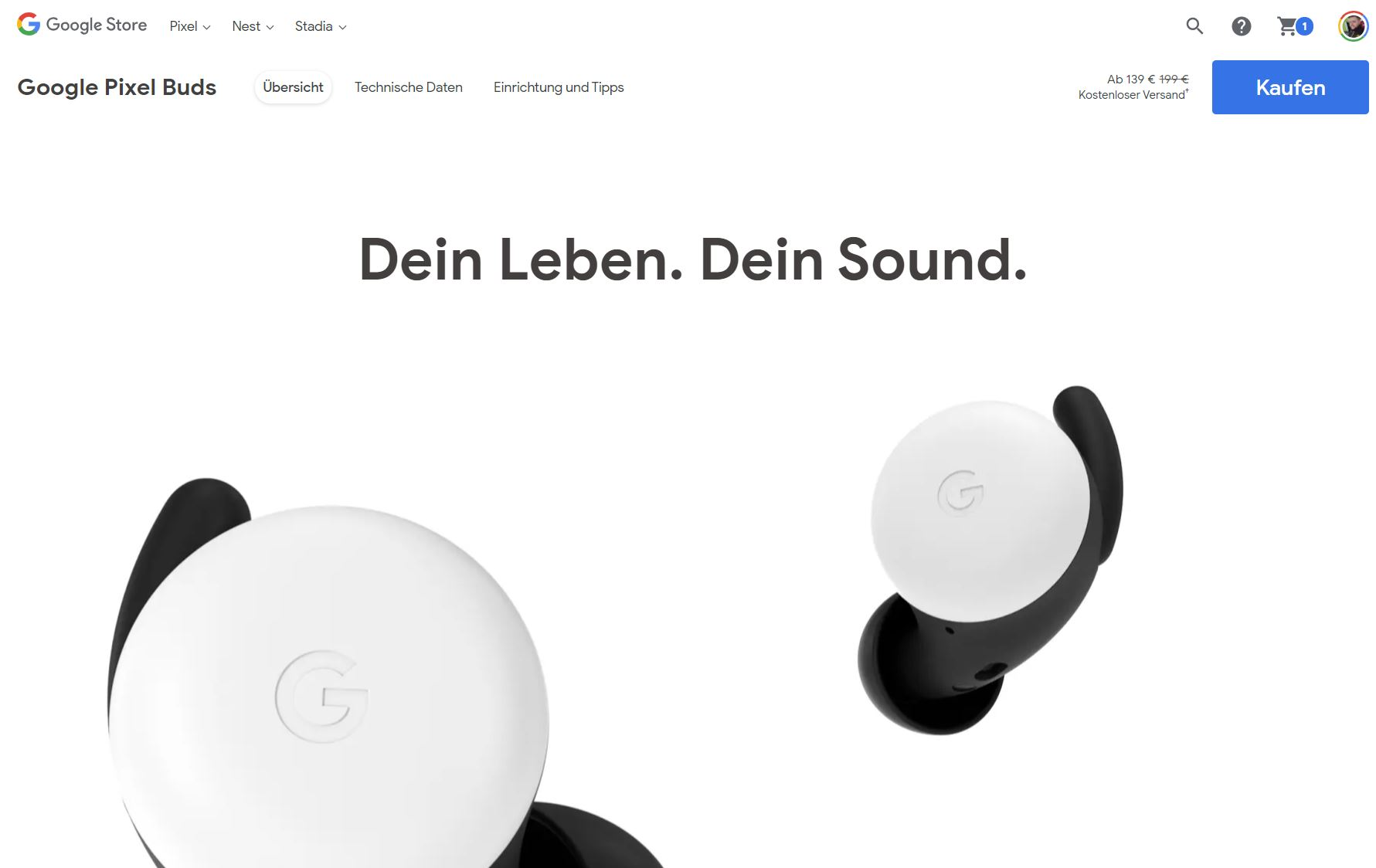 Google reduziert Pixel Buds um 60 Euro