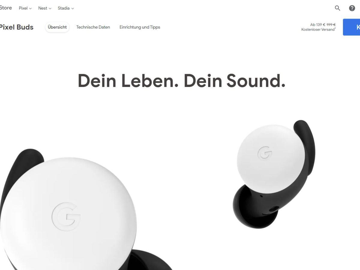 Google Pixel Buds Google Store 139 Euro