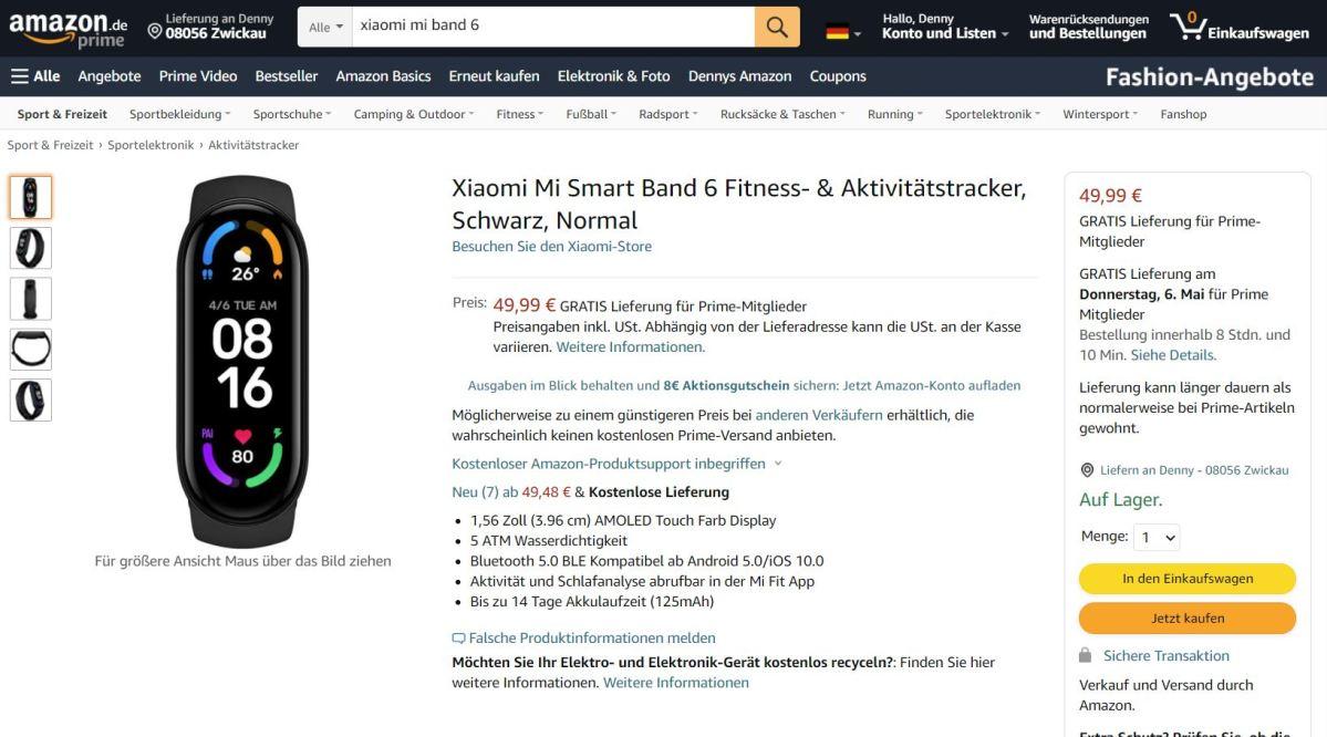 Mi Smart Band 6 Amazon