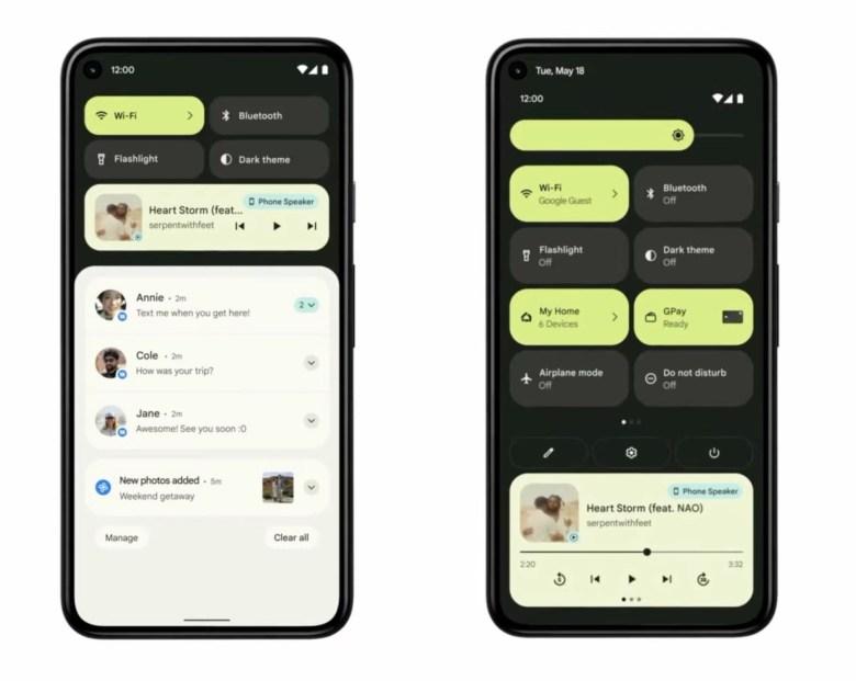 Android 12 Schnelleinstellungen Und Benachrichtigungen