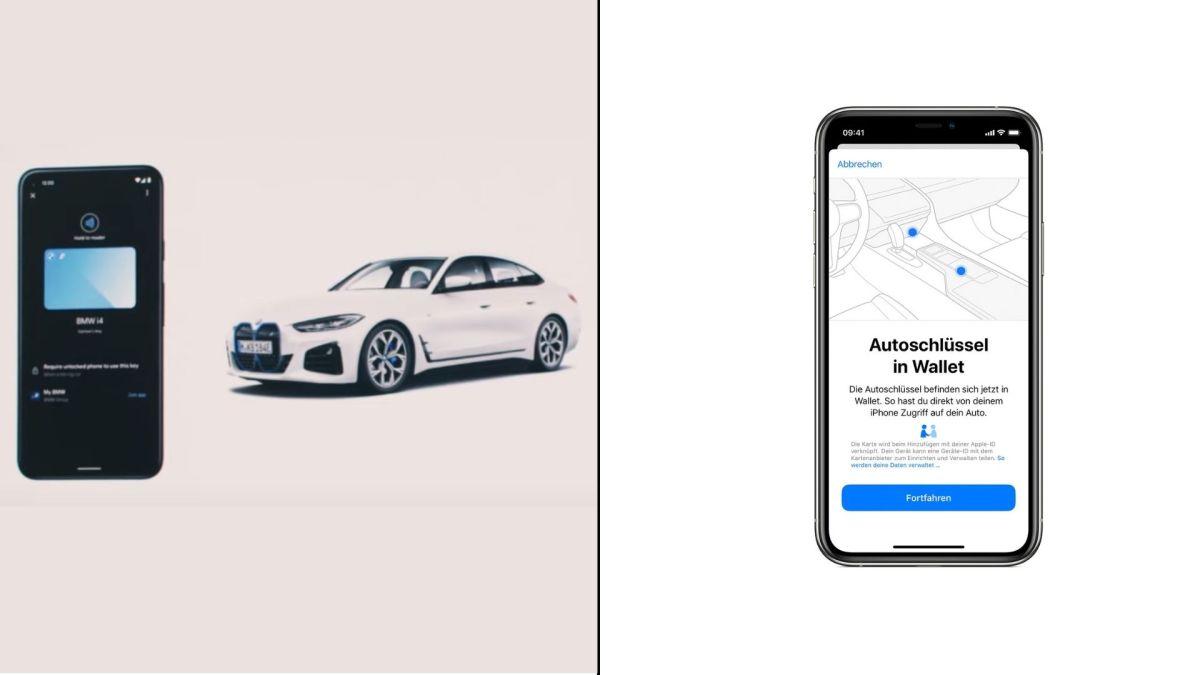 Android Digital Car Key Apple Carkey Vergleich