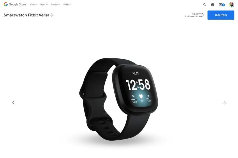 Fitbit Versa 3 Google Store