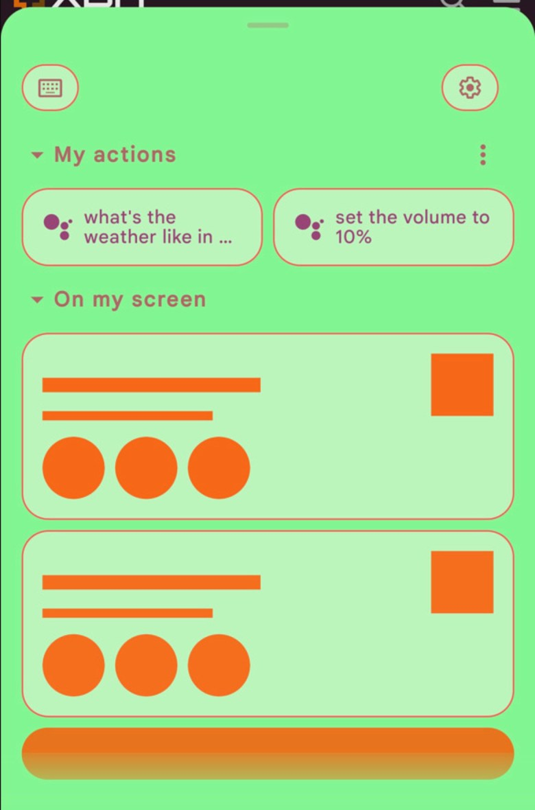 Google Assistant Platzhalter On My Screen My Actions