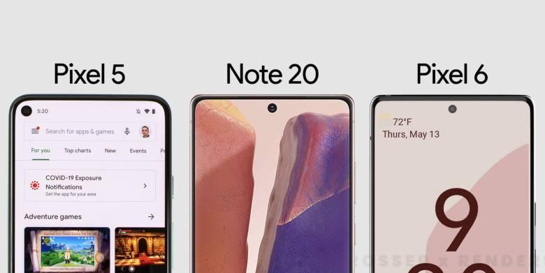 Google Pixel 5 Samsung Galaxy Note 20 Google Pixel 6 Leak Vergleich