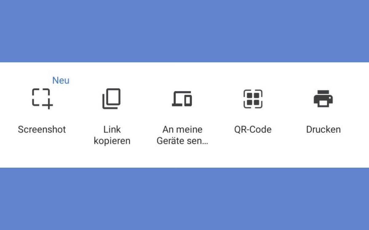 Chrome Screenshottaste teilen