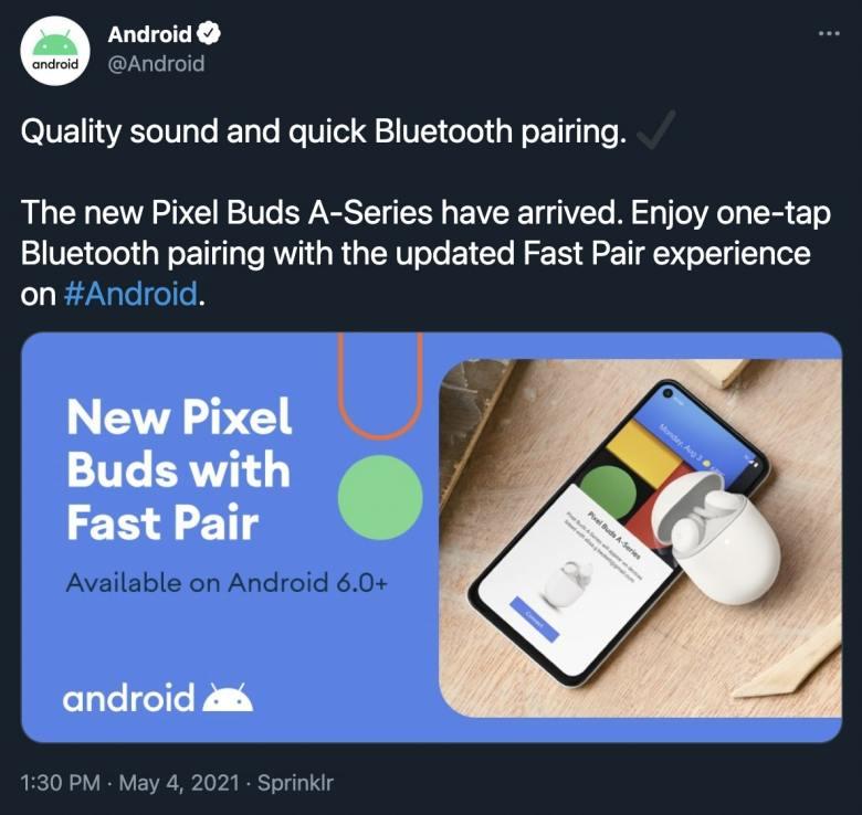 Pixel Buds A Series Tweet