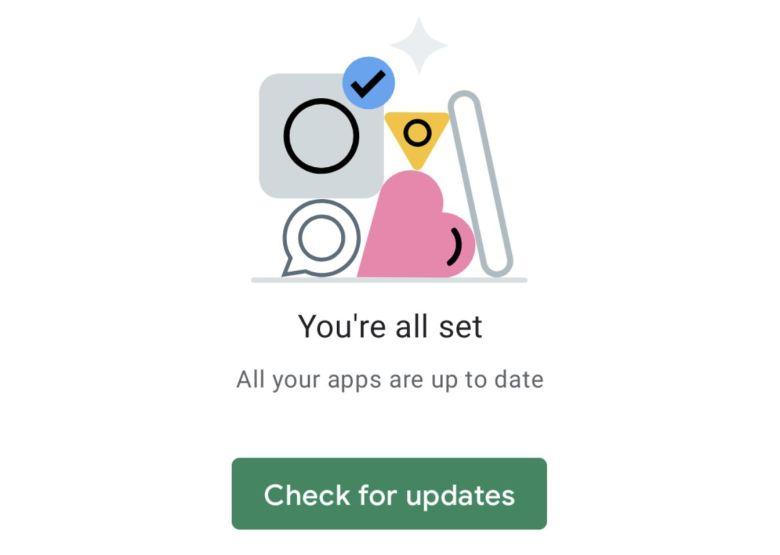 Play Store Redesign Mai 2021 Leere Liste