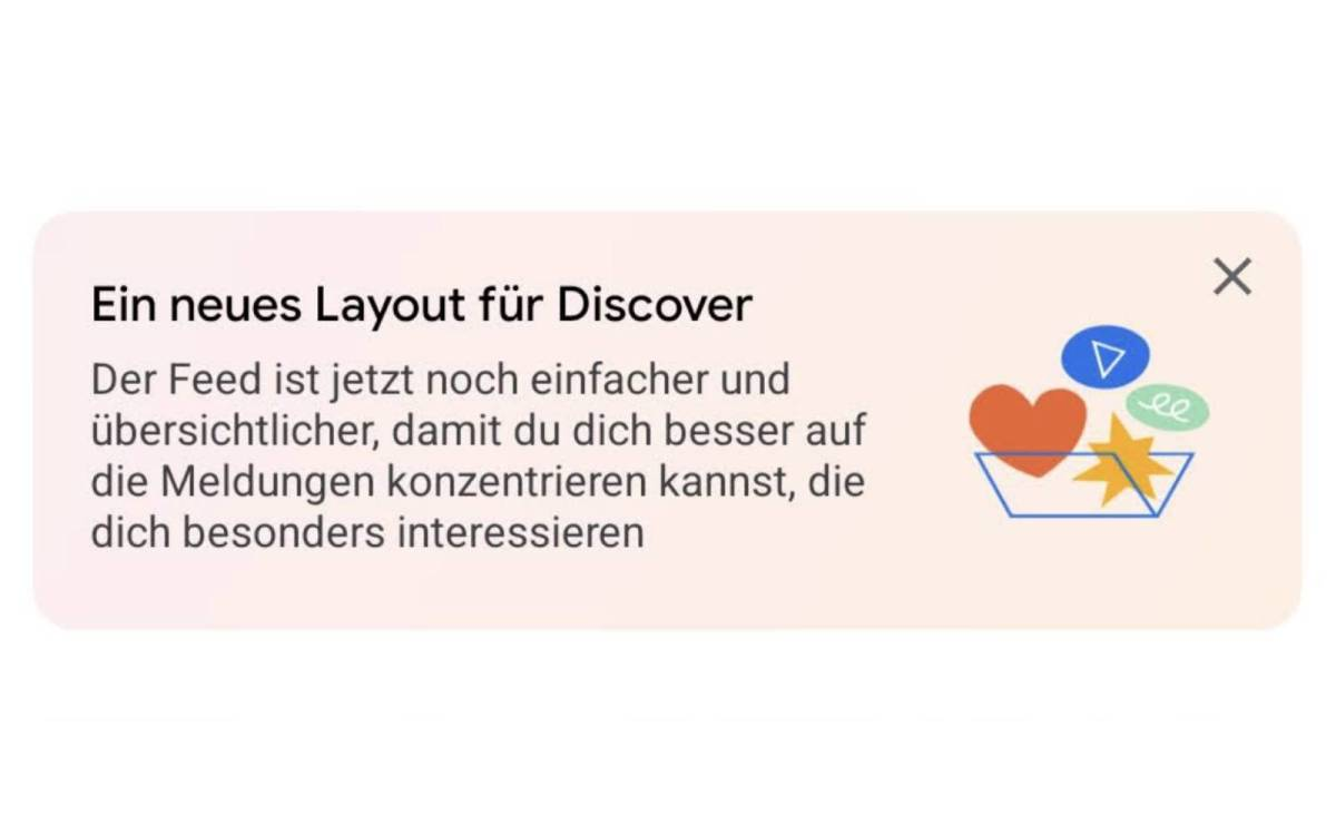 Neues Layout Fuer Discover Hinweis